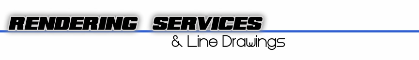 car rendering services and line drawings