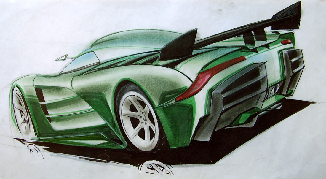marker rendering of Prodigy super car