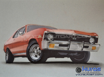 Hot Rod Art Car Drawing Art And Custom Vehicle Illustration