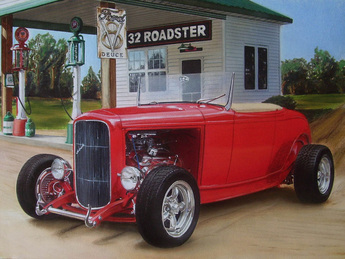 1932 Ford Roadster hot rod art