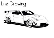 Line drawing of Nissan 350Z